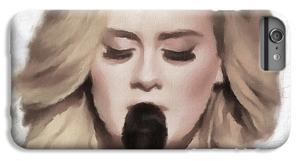 Adele Portrait Hello IPhone 6s Plus Case by Yury Malkov