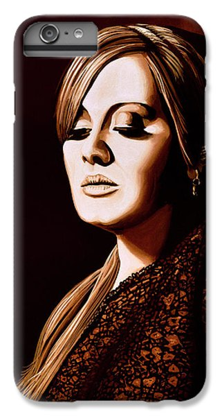 Rhythm And Blues iPhone 6s Plus Case - Adele Skyfall Gold by Paul Meijering