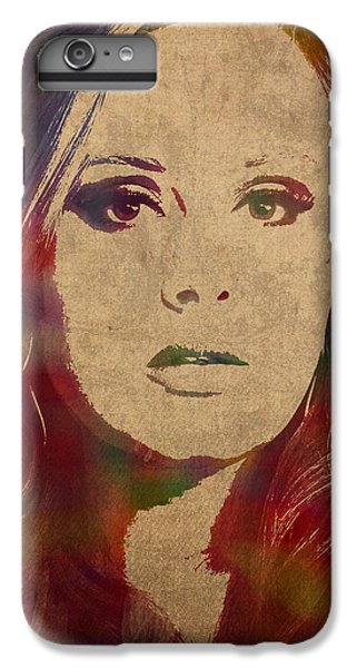 Adele Watercolor Portrait IPhone 6s Plus Case by Design Turnpike