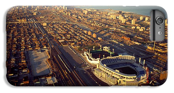Soldier Field iPhone 6s Plus Case - Aerial View Of A City, Old Comiskey by Panoramic Images