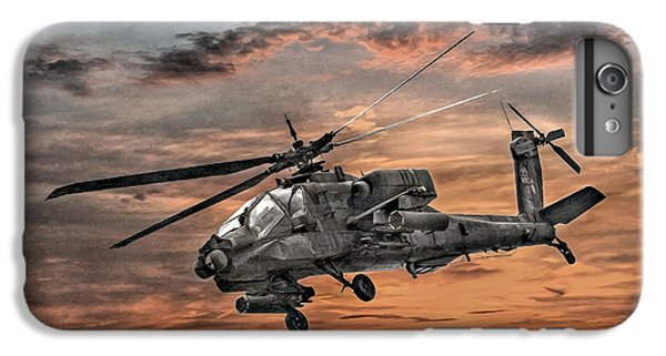 Helicopter iPhone 6s Plus Case - Ah-64 Apache Attack Helicopter by Randy Steele