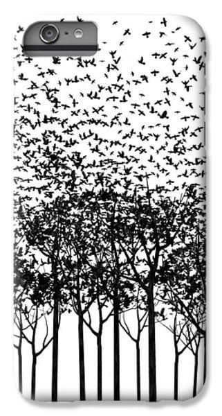 Starlings iPhone 6s Plus Case - Aki Monochrome by Cynthia Decker