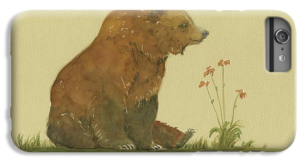 Alaskan Grizzly Bear IPhone 6s Plus Case by Juan Bosco