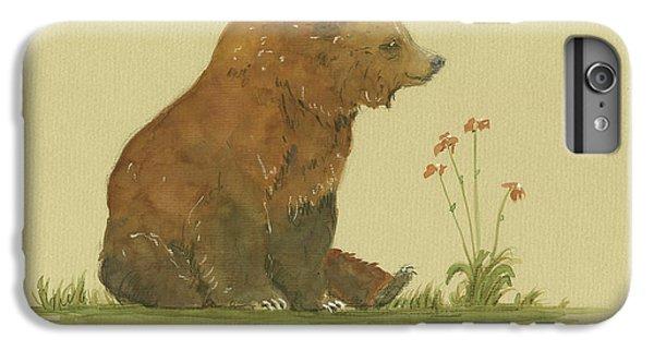 Alaskan Grizzly Bear IPhone 6s Plus Case by Juan Bosco