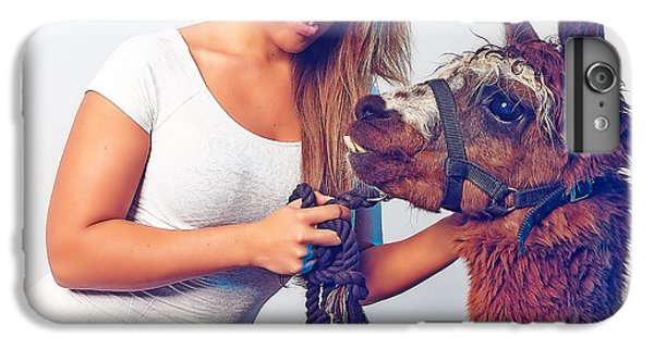 Alpaca Mr. Tex And Breanna IPhone 6s Plus Case by TC Morgan