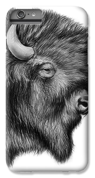 Buffalo iPhone 6s Plus Case - American Bison by Greg Joens