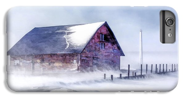 IPhone 6s Plus Case featuring the painting Anderson Dock Winter Storm by Christopher Arndt