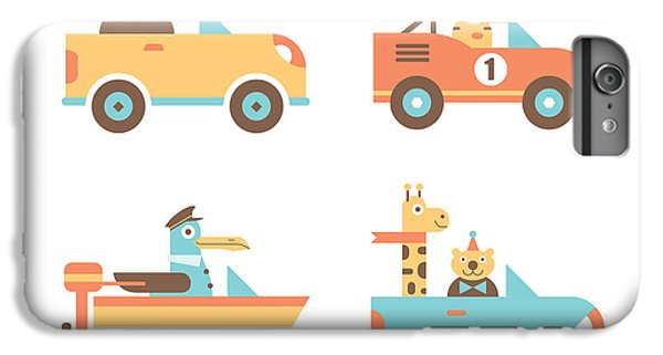 Truck iPhone 6s Plus Case - Animal Cars by Mitch Frey