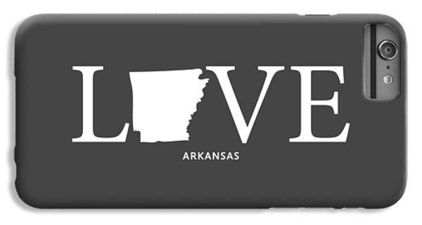 University Of Arkansas iPhone 6s Plus Case - Ar Love by Nancy Ingersoll