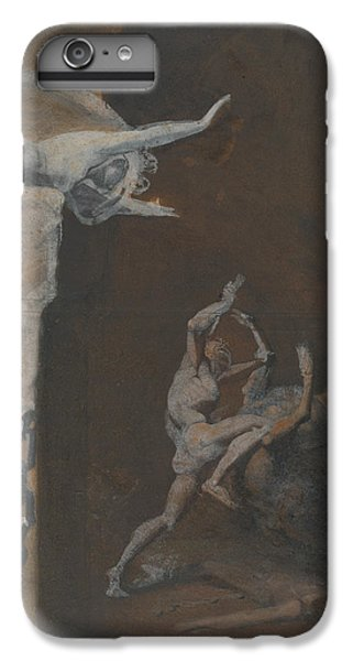 Minotaur iPhone 6s Plus Case - Ariadne Watching The Struggle Of Theseus With The Minotaur by Henry Fuseli