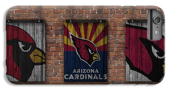 Arizona Cardinals Brick Wall IPhone 6s Plus Case by Joe Hamilton