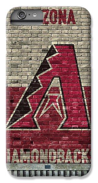 Diamondback iPhone 6s Plus Case - Arizona Diamondbacks Brick Wall by Joe Hamilton