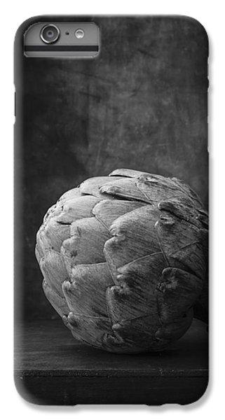 Artichoke iPhone 6s Plus Case - Artichoke Black And White Still Life by Edward Fielding