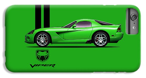 Viper iPhone 6s Plus Case - Dodge Viper Snake Green by Mark Rogan