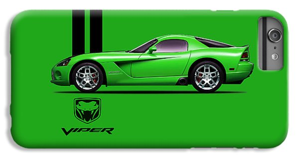 Dodge Viper Snake Green IPhone 6s Plus Case by Mark Rogan