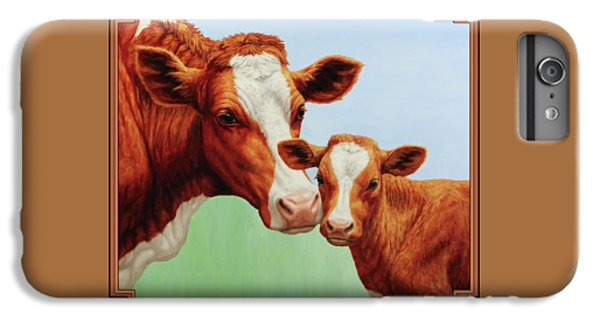 Cow iPhone 6s Plus Case - Cream And Sugar by Crista Forest