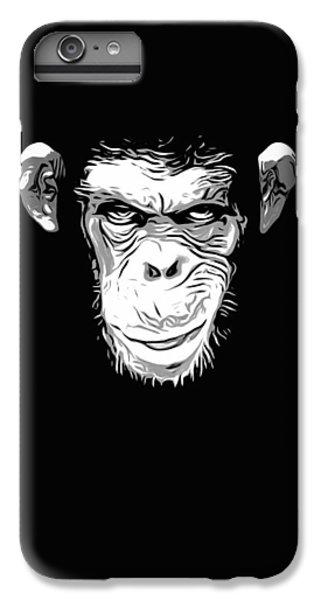 Chimpanzee iPhone 6s Plus Case - Evil Monkey by Nicklas Gustafsson