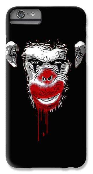 Chimpanzee iPhone 6s Plus Case - Evil Monkey Clown by Nicklas Gustafsson