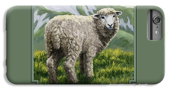 Sheep iPhone 6s Plus Case - Highland Ewe by Crista Forest
