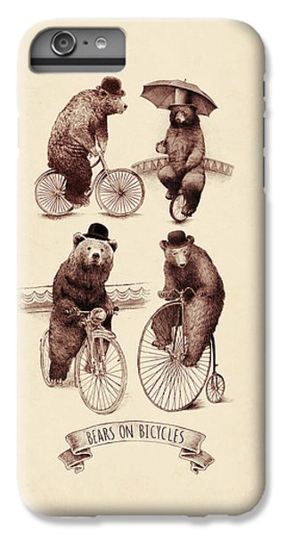 Bears On Bicycles IPhone 6s Plus Case