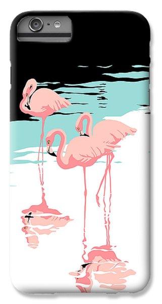 Pink Flamingos Tropical 1980s Abstract Pop Art Nouveau Graphic Art Retro Stylized Florida Print IPhone 6s Plus Case
