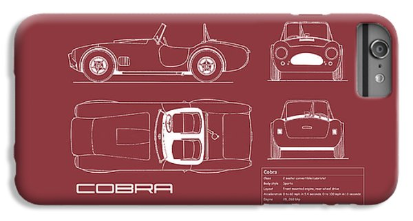Ac Cobra Blueprint - Red IPhone 6s Plus Case by Mark Rogan