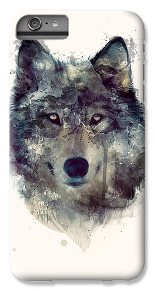 Animals iPhone 6s Plus Case - Wolf // Persevere by Amy Hamilton