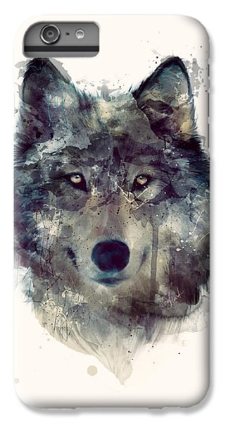 Wolf // Persevere IPhone 6s Plus Case by Amy Hamilton