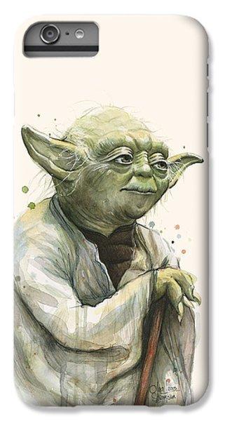 Star iPhone 6s Plus Case - Yoda Portrait by Olga Shvartsur