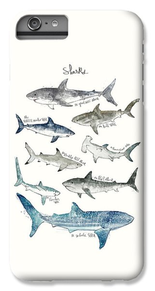 Sharks IPhone 6s Plus Case by Amy Hamilton