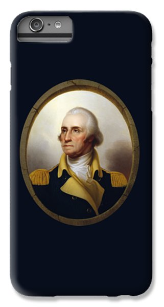 Politicians iPhone 6s Plus Case - General Washington - Porthole Portrait  by War Is Hell Store