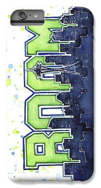 Hawk iPhone 6s Plus Case - Seattle 12th Man Legion Of Boom Painting by Olga Shvartsur