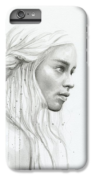 Dragon iPhone 6s Plus Case - Daenerys Watercolor Portrait by Olga Shvartsur