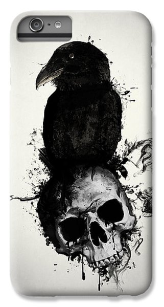 Raven iPhone 6s Plus Case - Raven And Skull by Nicklas Gustafsson