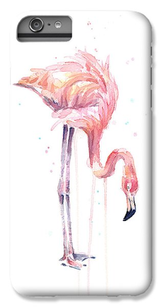 Flamingo Painting Watercolor IPhone 6s Plus Case by Olga Shvartsur