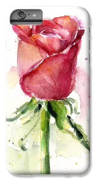 Rose iPhone 6s Plus Case - Rose Watercolor by Olga Shvartsur
