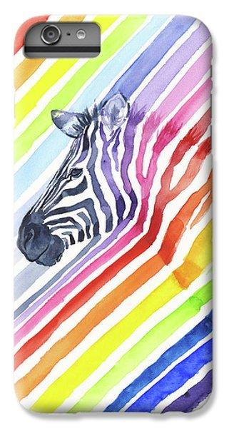 Zebra iPhone 6s Plus Case - Rainbow Zebra Pattern by Olga Shvartsur