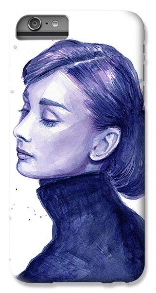 Audrey Hepburn Portrait IPhone 6s Plus Case by Olga Shvartsur
