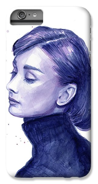 Audrey Hepburn Portrait IPhone 6s Plus Case by Olga Shvartsur