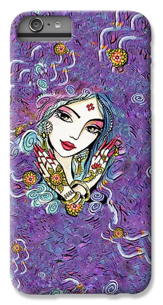 IPhone 6s Plus Case featuring the painting Hands Of India by Eva Campbell