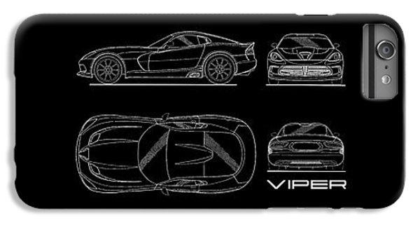 Viper Blueprint IPhone 6s Plus Case by Mark Rogan