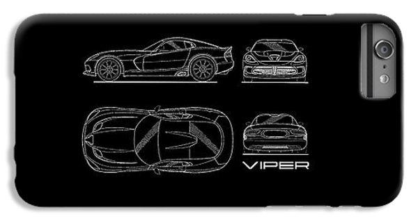 Srt Viper Blueprint IPhone 6s Plus Case by Mark Rogan