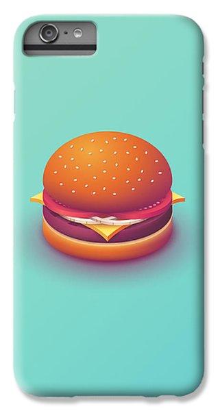 iPhone 6s Plus Case - Burger Isometric - Plain Mint by Ivan Krpan