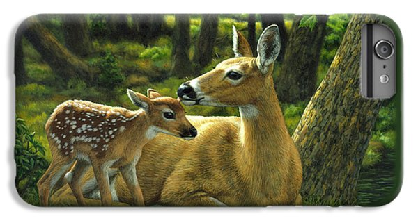 Deer iPhone 6s Plus Case - Whitetail Deer - First Spring by Crista Forest