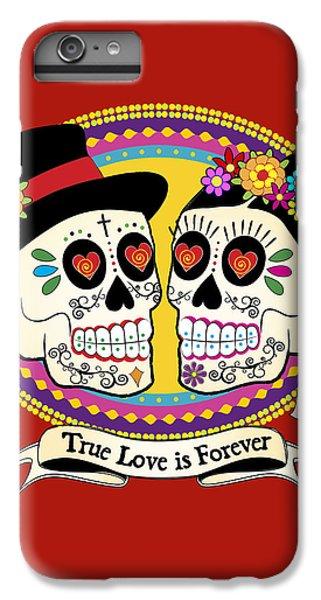 Folk Art iPhone 6s Plus Case - Los Novios Sugar Skulls by Tammy Wetzel