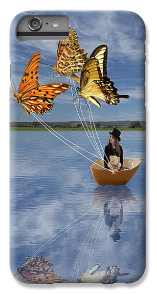 Butterfly Sailing IPhone 6s Plus Case by Linda Lees