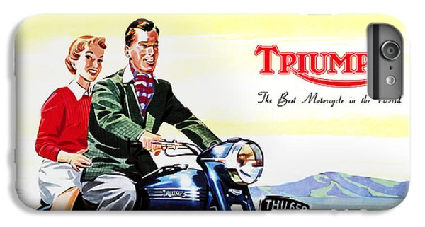 Motorcycle iPhone 6s Plus Case - Triumph 1953 by Mark Rogan