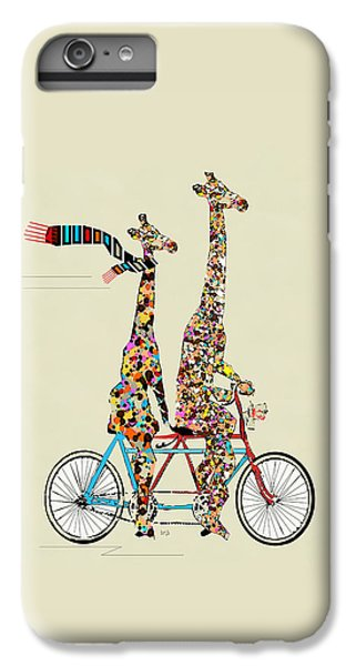 Bicycle iPhone 6s Plus Case - Giraffe Days Lets Tandem by Bleu Bri
