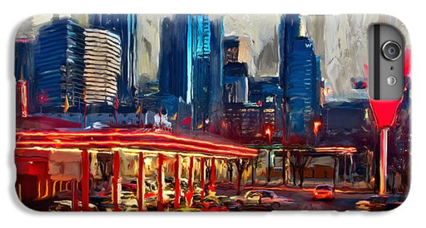 Dallas Skyline iPhone 6s Plus Case - Atlanta Skyline 231 1 by Mawra Tahreem