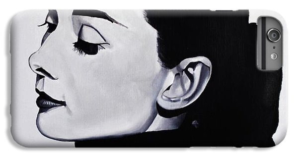 Audrey Hepburn iPhone 6s Plus Case - Audrey Hepburn 1 by Brian Broadway